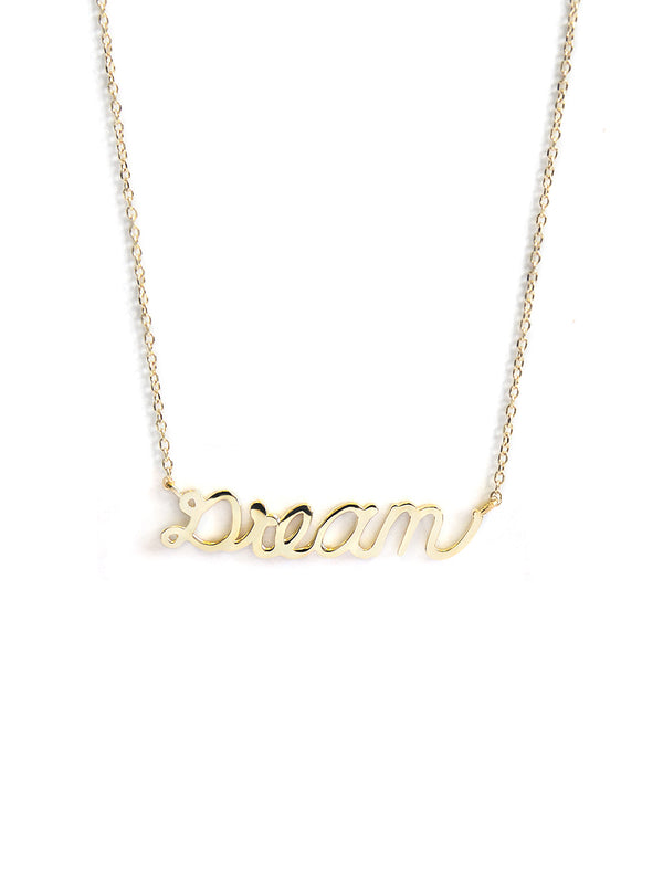 Script Dream Necklace
