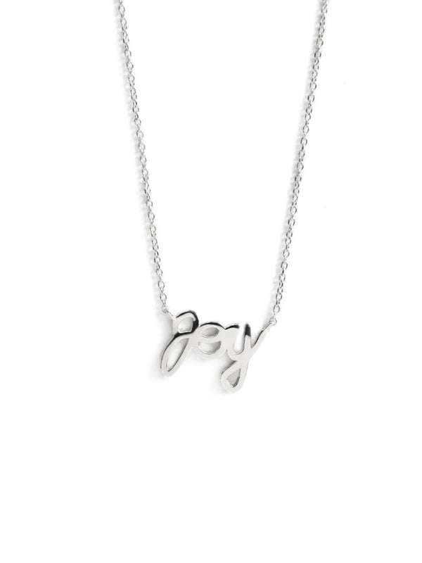 Script Joy Necklace