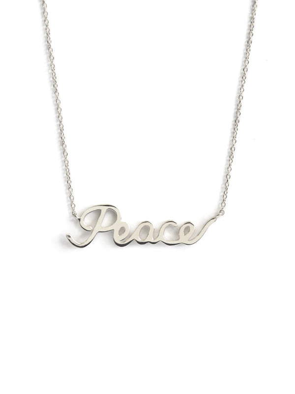 Script Peace Necklace