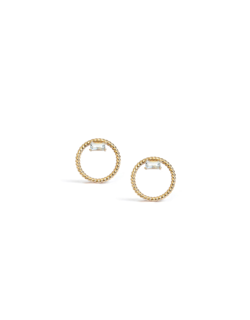 Strata Open Circle Rope Studs