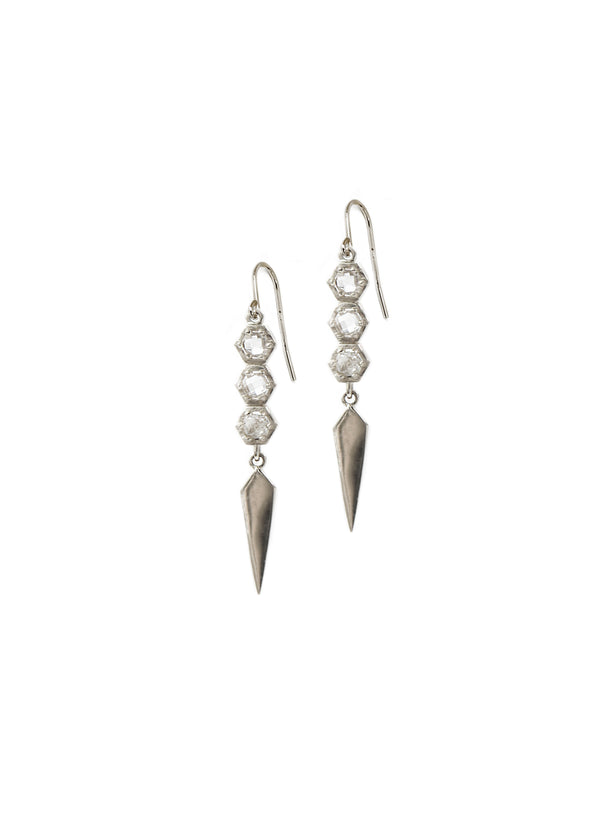 Bolt Mini Linear Dagger Drop Earrings