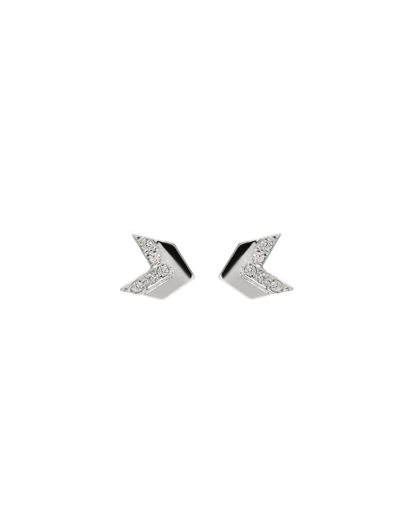 Arrow Pavé Chevron Studs
