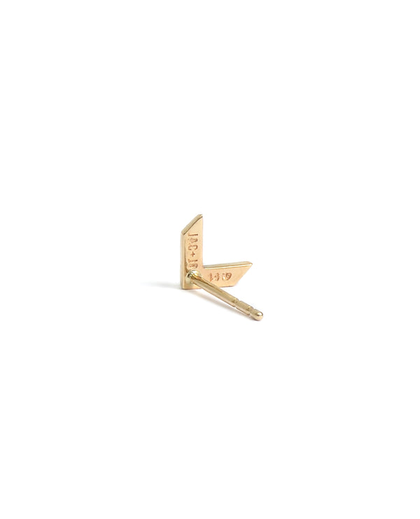 Arrow Tail Studs - Gold
