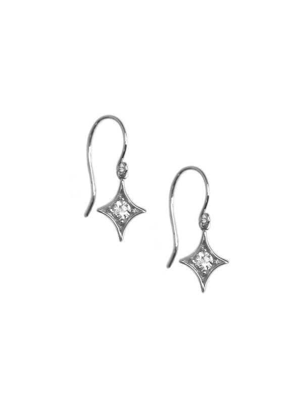 Gothic Diamond Hanging Earrings