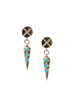 X-Bolt Dagger Drop Earrings
