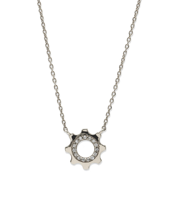 Cog Mini Pavé Necklace