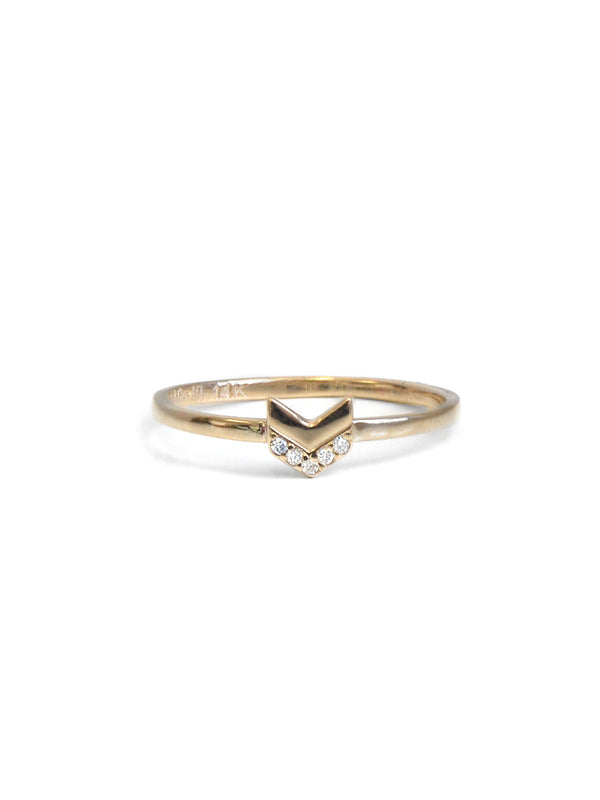 Arrow Pavé Chevron Ring