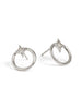 Gothic Diamond Open Circle Studs