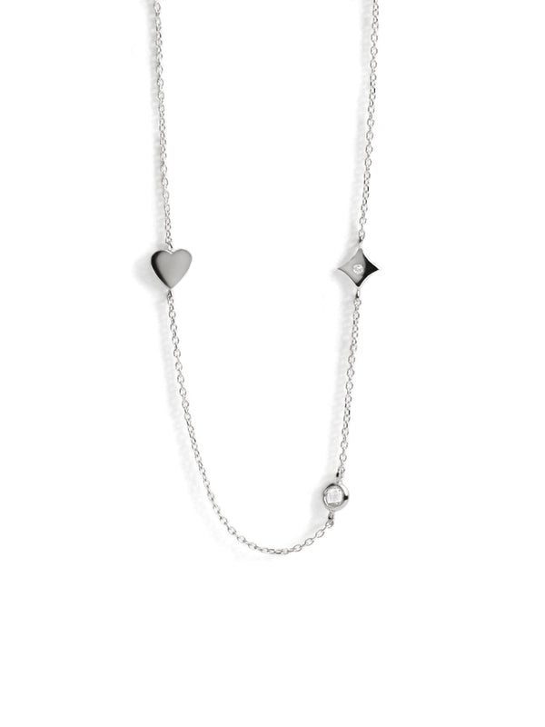 Icon Heart Station Necklace