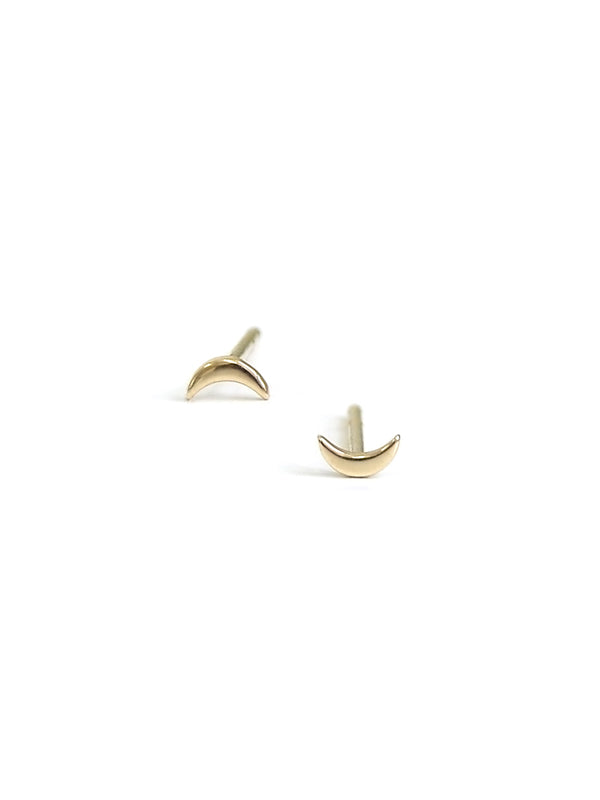 Icon Moon Studs - Gold