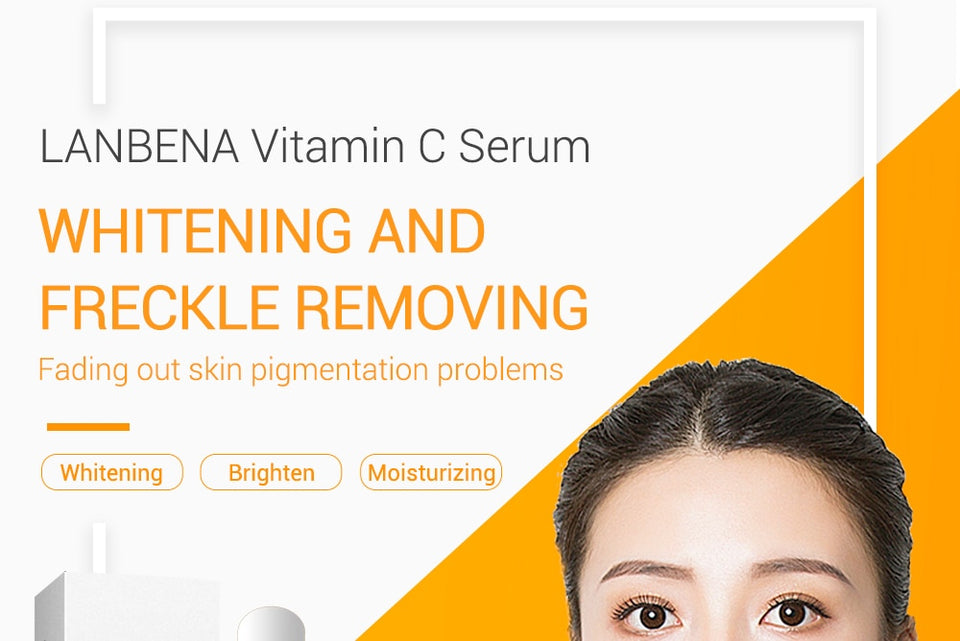 OMY LADY LANBENA Vitamin C Essence Skin Care Whitening Serum Hyaluronic Acid Face Cream Snail Remover Freckle Spots Anti-aging