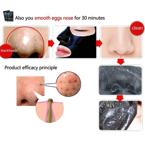 5 pc/lot Facial Black Mask Face eye Care Nose Acne Blackhead