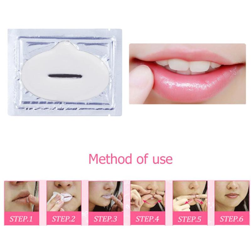1pc Women Collagen Lip Masks Moisture Essence Lips Plumper Mask for Lip Care Cosmetic Face Skin Care
