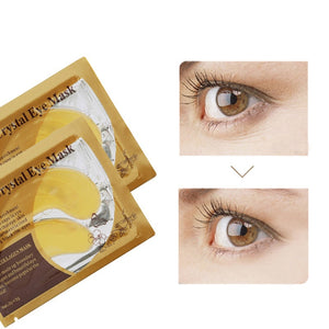 10pcs=5bags Eye Care Treatment & Mask Gold Crystal Collagen Skin Care Eye Patches Dark Circle Whitening Face Mask Care Effect