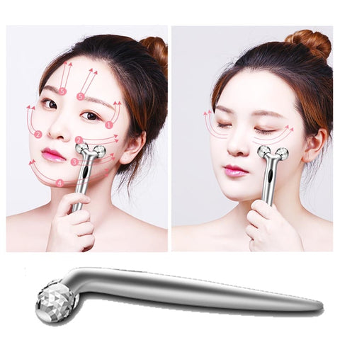 Y Shape Roller Massager Mini 3D Roller Massager 360 Rotate 3D Full Body Shape Massager for Face and Body Lifting Wrinkle Remover