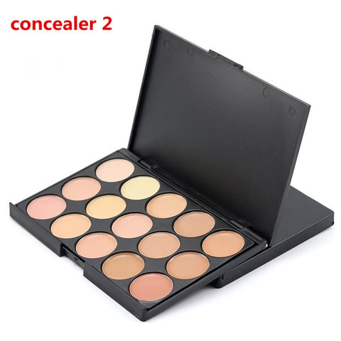 10*15cm Natural Professional Concealer Palette 15 Colors Makeup Foundation Facial Face Cream Palettes Cosmetic Make Up Color