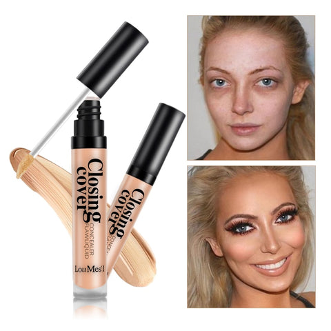 Loumesi  Makeup Concealer Liquid concealer Perfect Cover Pores Dark Circles Oil-control Waterproof Liquid Concealer Face Primer