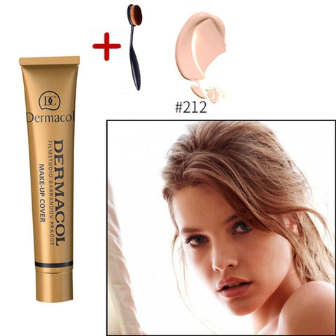 Dermacol Brand High Quality Concealer Liquid Foundation Cover Freckles Acne Marks Waterproof Professional Primer Cosmetic Makeup