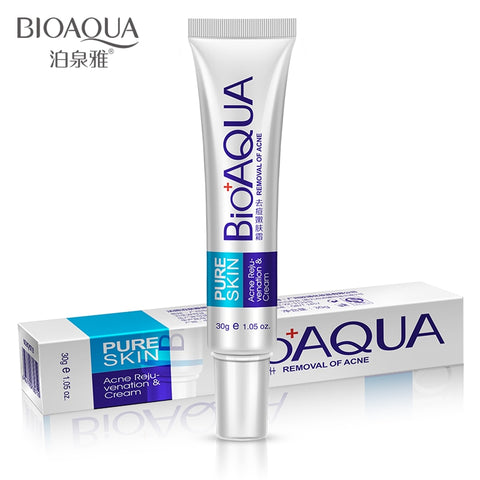 BIOAQUA 30g  Whitening Skin Care Anti Acne Treatment Cream Oil Control Moisturizing Acne Scar Remover Pores  Acne Cream