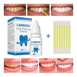 LANBENA Teeth Whitening Essence Powder Cleaning Whitening Serum Removes Plaque Stains Tooth Bleaching Dental Tools Face Care