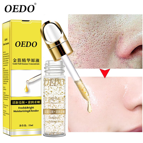 OEDO Shrink Pores Gold Hyaluronic Acid liquid Moisturizing Face Serum Whitening Plant Skin Care Anti Aging Anti Wrinkle Cream