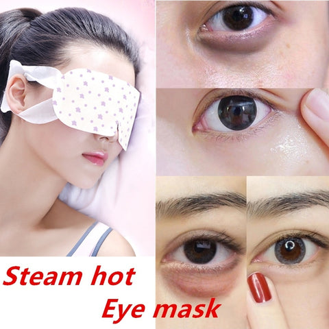 1pcs/lot Steam Hot Warming Eye Mask for Tired Eyes Relaxing Remove Dark Circles Black Eye SPA Eyeshade