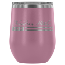 Load image into Gallery viewer, Freedom Works Logo Wine Tumbler