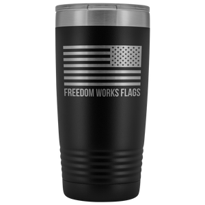 Freedom Works Flags Tumbler