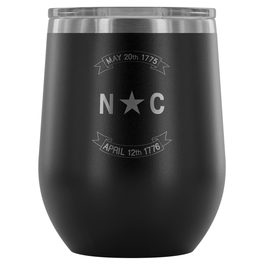 NC Scroll Wine Tumbler