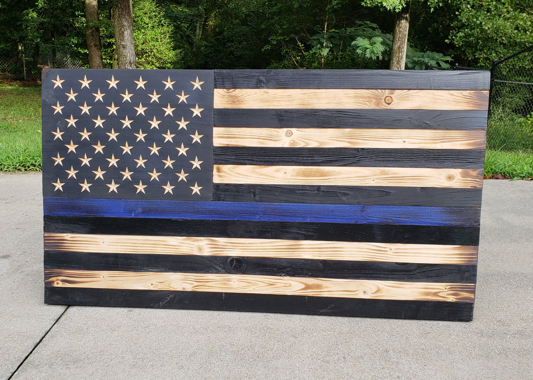 Thin Blue Line USA Flag