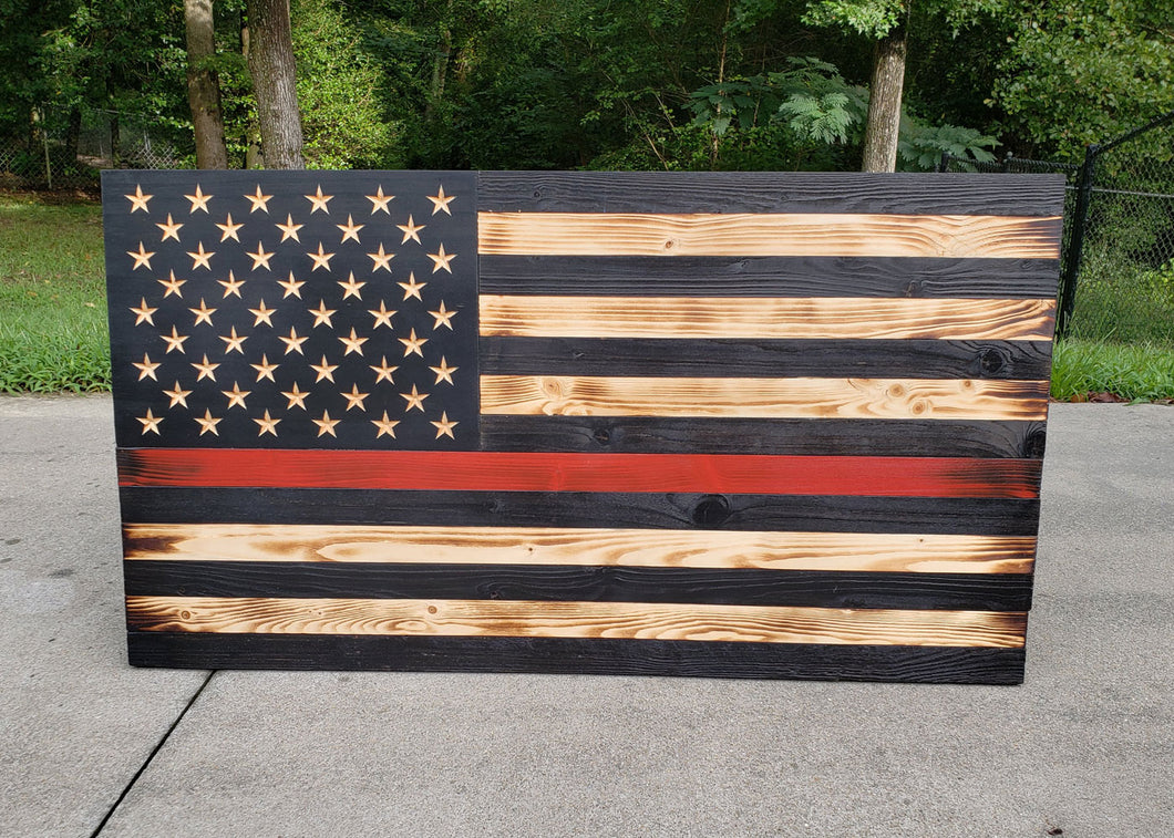Thin Red Line USA Flag