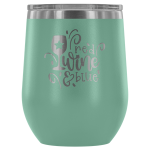 Red Wine and Blue Wine Tumbler