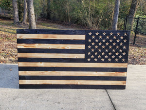 Reverse Side Subdued USA Flag