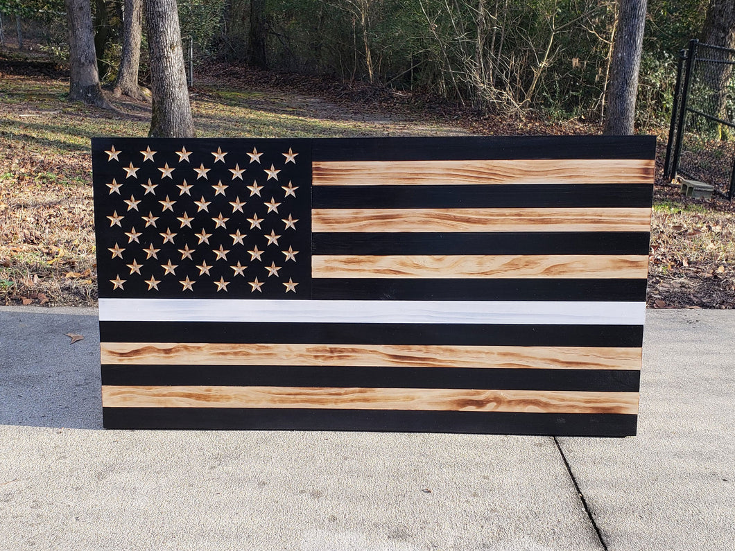 Thin White Line USA Flag