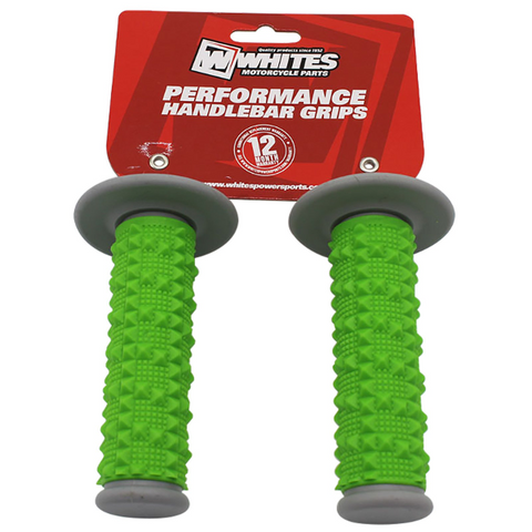 Whites MX Full Large Diamond Grip 2 Grey/Green