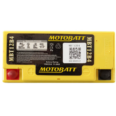 Motobatt MBT12B4 12V Battery