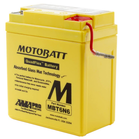 Motobatt MBT6N6 6V Battery