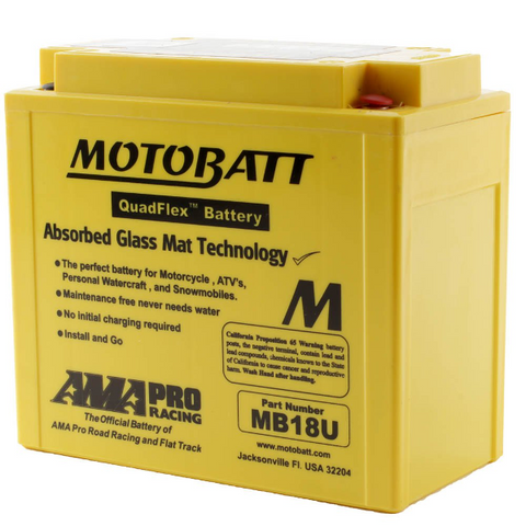 Motobatt MB18U 12V Battery