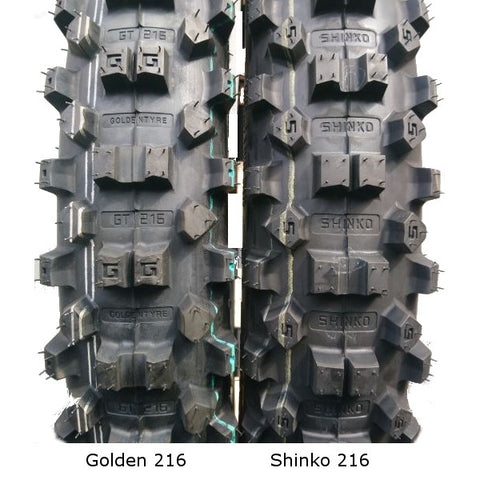 Golden Tyre 216AA front inc Fatty