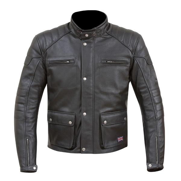 Merlin Beacon Black Leather Jacket
