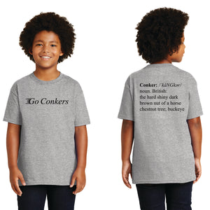 Youth S/S T-Shirt / Go Conkers on Front / Conkers Definition on Back