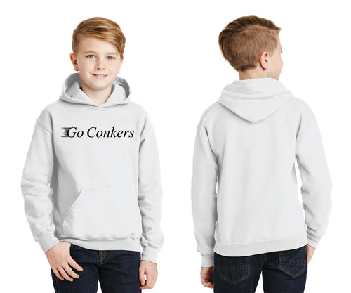 Youth Pullover Hooded Sweatshirt / Go Conkers on Front