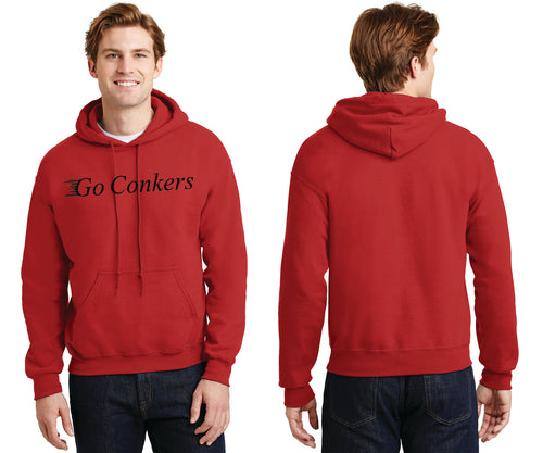 Men's Hooded Sweatshirt / Go Conkers on Front