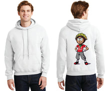 Men's Hooded Sweatshirt / Conker Caricature on Back