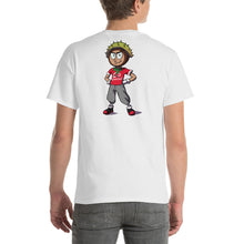 Short Sleeve T-Shirt - Go Conkers on Front / Conkers Caricature on Back