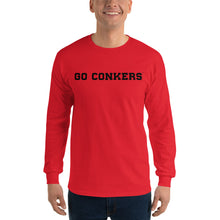Long Sleeve T-Shirt - Go Conkers on Front / Conkers Caricature on Back