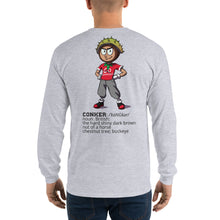 Long Sleeve T-Shirt Go Conkers on front, Definition on back