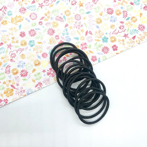 3cm Black Elastic Bobbles - Crafty Bear Craft Supplies & Glitter Fabric