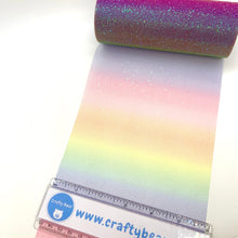"Load image into Gallery viewer, Tulle 6"" Sparkle Rainbow - Crafty Bear Craft Supplies & Glitter Fabric"