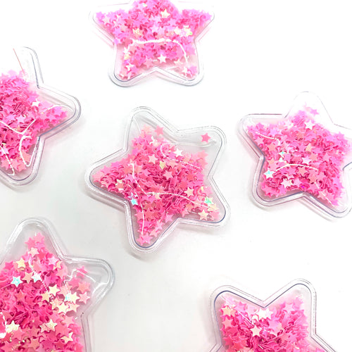 Shaker Star Pink - Crafty Bear Craft Supplies & Glitter Fabric